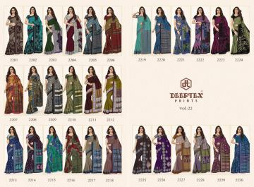 DEEPTEX MOTHER INDIA VOL 22 COTTON PRINT SAREES WITH BLOUSE COLLECTION WHOLESALE PRICE (14)JPG
