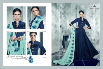 ARIHANT NX LATEST CHERRY FULL STITCHED PARTY WEAR GOWNS WHOLESALE PRICE (7) JPG