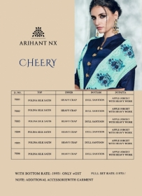 ARIHANT NX LATEST CHERRY FULL STITCHED PARTY WEAR GOWNS WHOLESALE PRICE (17) JPG