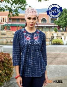 100 MILES APPEAL COTTON EMBROIDERED TUNIC TOPS WHOLESALE PRICE(1)JPG