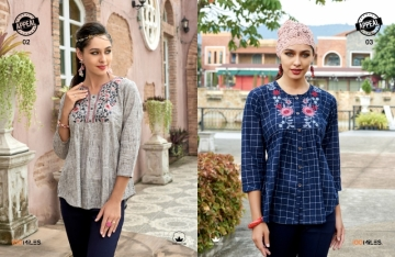 100 MILES APPEAL COTTON EMBROIDERED TUNIC TOPS WHOLESALE PRICE(3)JPG