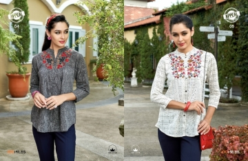 100 MILES APPEAL COTTON EMBROIDERED TUNIC TOPS WHOLESALE PRICE(4)JPG