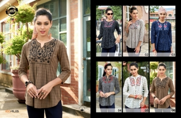 100 MILES APPEAL COTTON EMBROIDERED TUNIC TOPS WHOLESALE PRICE(5)JPG