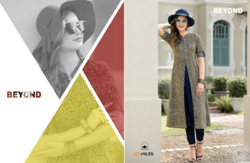 100 MILES BEYOND COTTON PRINT FLARE KURTIS WHOLESALE PRICE (2)JPG