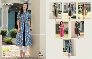 100 MILES BEYOND COTTON PRINT FLARE KURTIS WHOLESALE PRICE (5) JPG