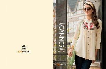 100 MILES CANNES VOL-03 RAYON SLUB EMBROIDERED TUNIC SHORT TOP WHOLESALE PRICE(2)JPG