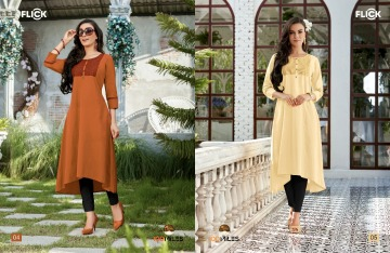 100 MILES FLICK COTTON EMBROIDERED FLARE KURTI WHOLESALE SUPPLIER (3) JPG