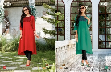 100 MILES FLICK COTTON EMBROIDERED FLARE KURTI WHOLESALE SUPPLIER (4) JPG
