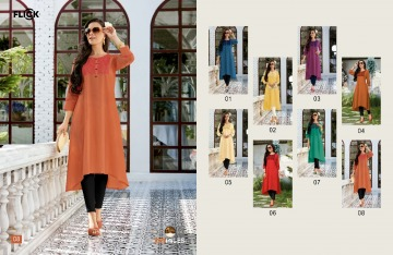 100 MILES FLICK COTTON EMBROIDERED FLARE KURTI WHOLESALE SUPPLIER (5) JPG