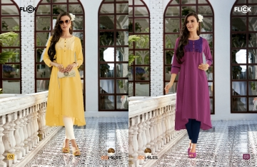 100 MILES FLICK COTTON EMBROIDERED FLARE KURTI WHOLESALE SUPPLIER (2) JPG