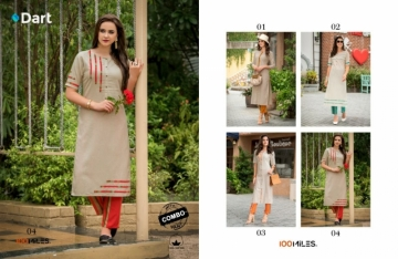 100 MILES PRESENTS DART RAYON COTTON FANCY KURTIS WITH PANT (4)jpg