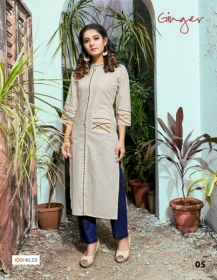 100 MILES PRESENTS GINGER COTTON DESIGNER EMBROIDERY KURTI (3) JPG