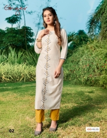 100 MILES PRESENTS GINGER COTTON DESIGNER EMBROIDERY KURTI (4) JPG