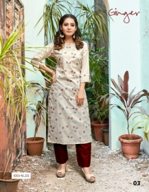 100 MILES PRESENTS GINGER COTTON DESIGNER EMBROIDERY KURTI (5) JPG