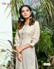 100 MILES PRESENTS GINGER COTTON DESIGNER EMBROIDERY KURTI (6) JPG