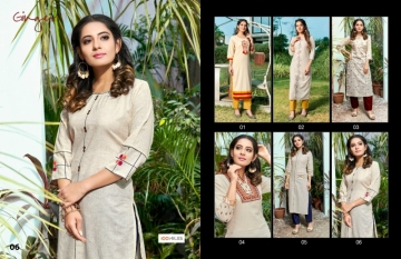 100 MILES PRESENTS GINGER COTTON DESIGNER EMBROIDERY KURTI (7) JPG