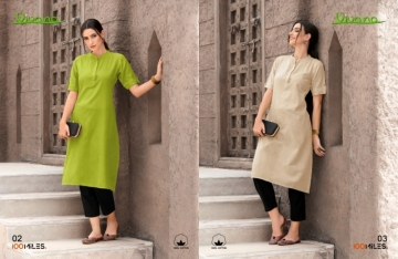100 MILES PRESENTS VIVANA PLAIN COTTON STRAIGHT KURTI WHOLESALER PRICE (01) JPG