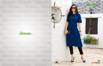 100 MILES PRESENTS VIVANA PLAIN COTTON STRAIGHT KURTI WHOLESALER PRICE (2) JPG