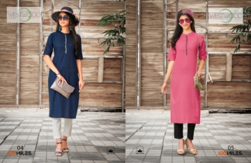 100 MILES PRESENTS WESTWOOD COTTON DESIGNER LONG KURTIS WHOLESALE PRICE (4)