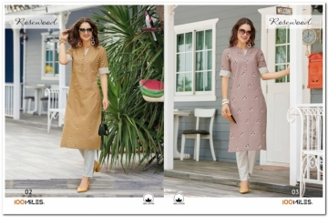 100 MILES ROSEWOOD PURE COTTON EMBROIDERY KURTIS (02)jpg