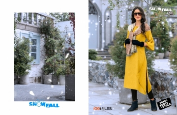 100 MILES SNOWFALL COTTON LONG KURTI WITH STOLE WHOLESALE SUPPLIER SURAT(1)JPG