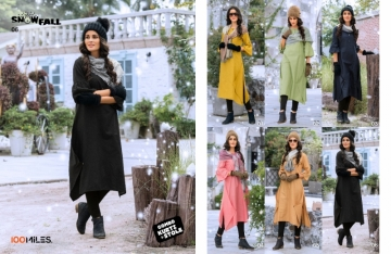 100 MILES SNOWFALL COTTON LONG KURTI WITH STOLE WHOLESALE SUPPLIER SURAT(4)JPG