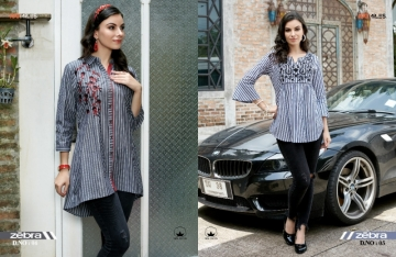 100 MILES ZEBRA COTTON STRIPES EMBROIDERED TUNIC WHOLESALE PRICE (3) JPG