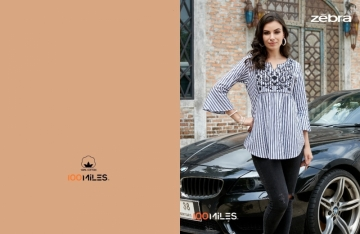 100 MILES ZEBRA COTTON STRIPES EMBROIDERED TUNIC WHOLESALE PRICE (5) JPG