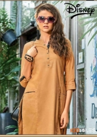 100MILES PRESENTS LATEST DISNEY LONG TOPS KURTI COLLECTION WHOLESALE (01).JGP