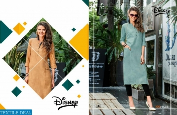 100MILES PRESENTS LATEST DISNEY LONG TOPS KURTI COLLECTION WHOLESALE (02).JGP
