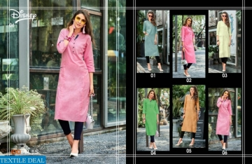 100MILES PRESENTS LATEST DISNEY LONG TOPS KURTI COLLECTION WHOLESALE (05).JGP