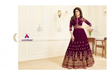 AASHIRWAD CREATION CELEBRITY PARTY WEAR FAUX GEORGETTE EMBROIDERED SALWAR SUITS WHOLESALE PRICE (13) JPG
