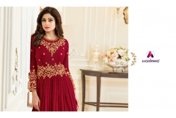 AASHIRWAD CREATION CELEBRITY PARTY WEAR FAUX GEORGETTE EMBROIDERED SALWAR SUITS WHOLESALE PRICE (6) JPG