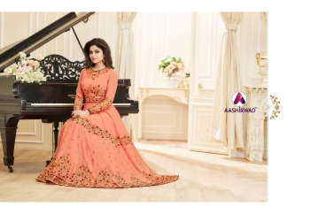 AASHIRWAD CREATION CELEBRITY PARTY WEAR FAUX GEORGETTE EMBROIDERED SALWAR SUITS WHOLESALE PRICE (7) JPG