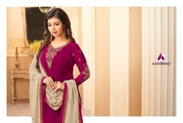 AASHIRWAD CREATION JASHN GEORGETTE SALWAR SUITS WHOLESALE PRICE (10) JPG