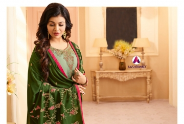 AASHIRWAD CREATION JASHN GEORGETTE SALWAR SUITS WHOLESALE PRICE (12) JPG