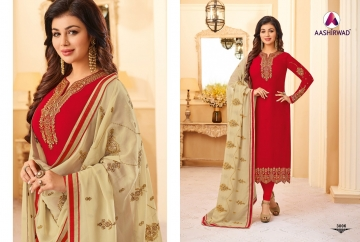 AASHIRWAD CREATION JASHN GEORGETTE SALWAR SUITS WHOLESALE PRICE (13) JPG