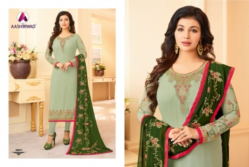 AASHIRWAD CREATION JASHN GEORGETTE SALWAR SUITS WHOLESALE PRICE (14) JPG