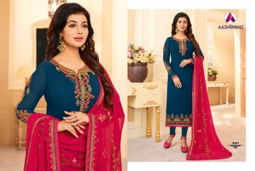 AASHIRWAD CREATION JASHN GEORGETTE SALWAR SUITS WHOLESALE PRICE (3) JPG