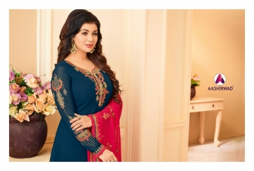AASHIRWAD CREATION JASHN GEORGETTE SALWAR SUITS WHOLESALE PRICE (4) JPG