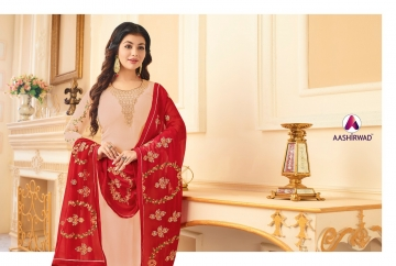 AASHIRWAD CREATION JASHN GEORGETTE SALWAR SUITS WHOLESALE PRICE (6) JPG