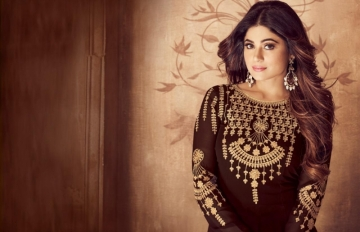 AASHIRWAD RIONA GOLD PARTY WEAR GEORGETTE EMBROIDERED ANARKALI SUITS WHOLESALE PRICE(10)JPG