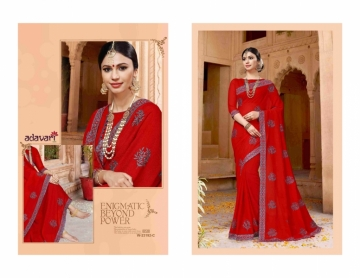 ADAVARI PRESENTS TERE NAINA MURBLE CHIFFON PARTY WEAR SAREES (4)JPG