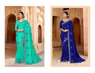 ADAVARI PRESENTS TERE NAINA MURBLE CHIFFON PARTY WEAR SAREES (5)JPG