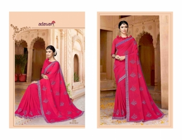ADAVARI PRESENTS TERE NAINA MURBLE CHIFFON PARTY WEAR SAREES (6)JPG