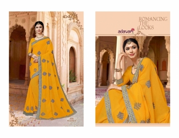 ADAVARI PRESENTS TERE NAINA MURBLE CHIFFON PARTY WEAR SAREES (7)JPG