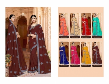 ADAVARI PRESENTS TERE NAINA MURBLE CHIFFON PARTY WEAR SAREES (8)JPG