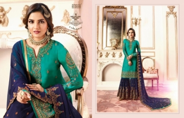 AMIRAH SHARARA VOL-02 SATIN GEORGETTE HEAVY EMBRODERY WORK SUITS WHOLESALE PRICE(01)JPG