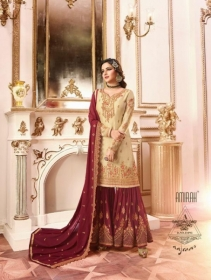 AMIRAH SHARARA VOL-02 SATIN GEORGETTE HEAVY EMBRODERY WORK SUITS WHOLESALE PRICE(12)JPG