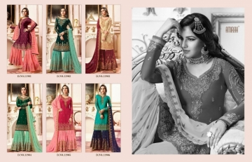 AMIRAH SHARARA VOL-02 SATIN GEORGETTE HEAVY EMBRODERY WORK SUITS WHOLESALE PRICE(15)JPG